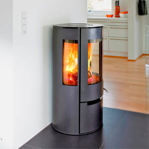 6kw Aduro 9 - DEFRA Black, Contemporary Wood burning, Log Burner, Multi Fuel Stove