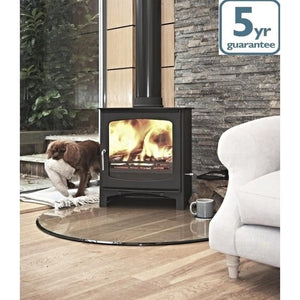 7-8kw Curve Contemporary Wood burning, Log Burner, Multi Fuel Stove