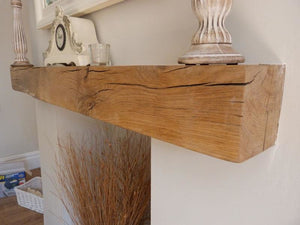 Classic Oak Beam Fireplace Mantel