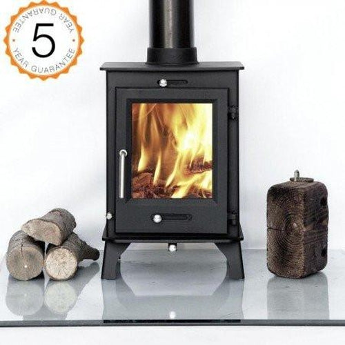 Ottawa 5kw, 80% efficient, Contemporary Wood burning, Log Burner, Multi Fuel Stove