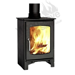 DEFRA APPROVED, Ecosy+ Purefire Curve 5kw, Contemporary Wood burning, Log Burner, Multi Fuel Stove