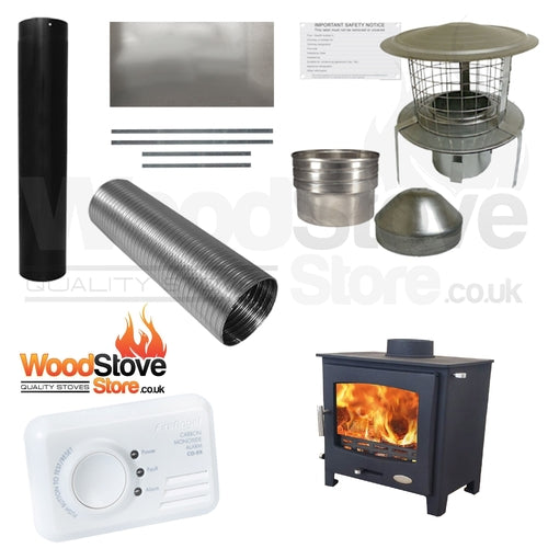 Woolly Mammoth 7kw Widescreen Defra Stove Installation Kit ONLY £800.00