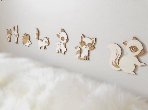 WOODLAND ANIMALS - WALL DECOR
