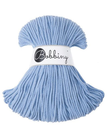 Baby Blue Bobbiny Cotton Rope 100m