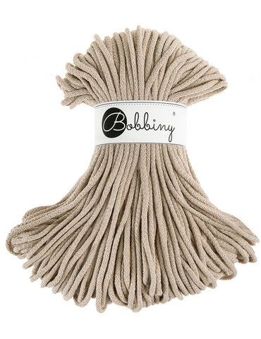 Beige Bobbiny Cotton Rope 100m