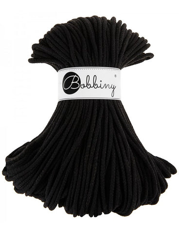 Black Bobbiny Cotton Rope 100m