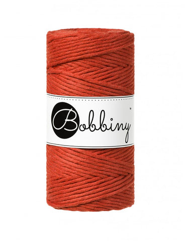 Burnt Orange Bobbiny 3mm Macrame Rope 100m