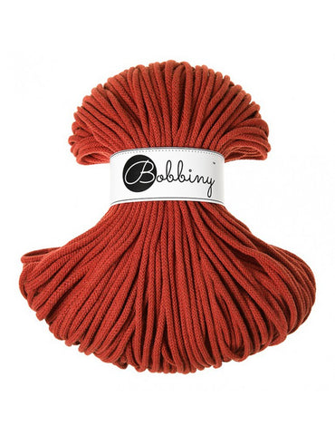 Burnt Orange Bobbiny Cotton Rope 100m