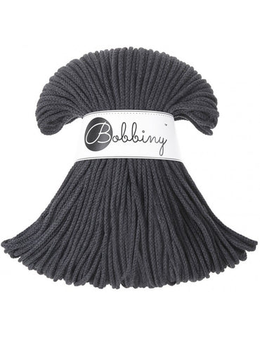 Charcoal Bobbiny 3mm Cotton Rope 100m