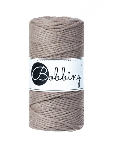 Coffee Bobbiny 3mm Macrame Rope 100m