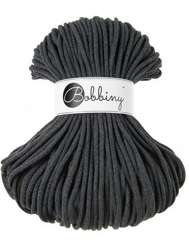 Charcoal Bobbiny Cotton Rope 100m
