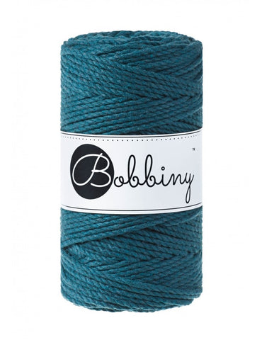 Peacock Bobbiny 3ply 3mm Macrame Rope 100m