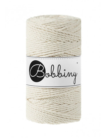 Natural Bobbiny 3ply 3mm Macrame Rope 100m
