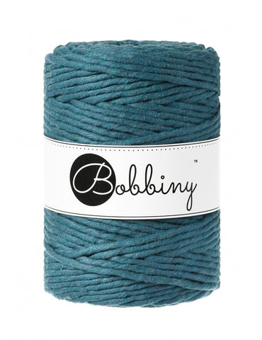 Peacock Blue Bobbiny 5mm Macrame Rope 100m