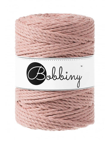 Blush Bobbiny 3ply 5mm Macrame Rope 100m