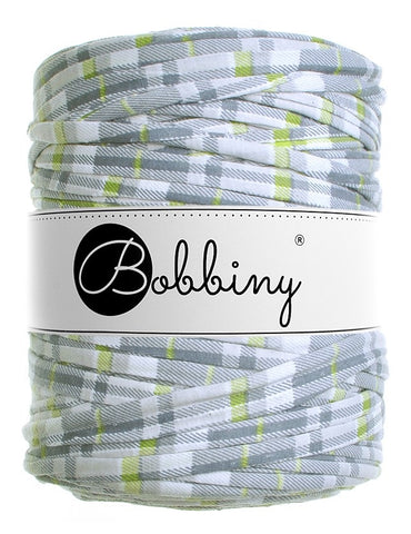 Grey Lime Check Bobbiny T-Shirt Yarn