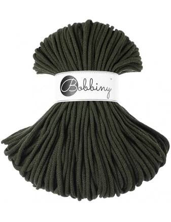Olive Green Bobbiny Cotton Rope 100m