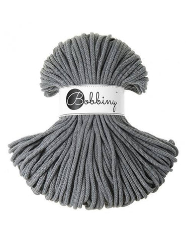 Steel Grey Bobbiny 5mm Cotton Rope 100m