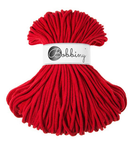 Red Bobbiny Cotton Rope 100m