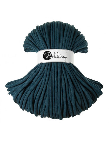 Peacock Blue Bobbiny 5mm Cotton Rope 100m