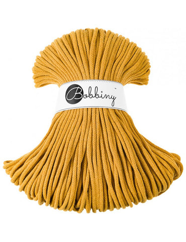 Mustard Bobbiny Cotton Rope 100m