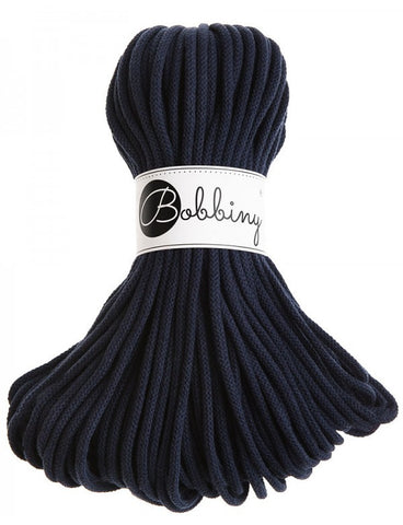 Navy Bobbiny Cotton Rope 50m