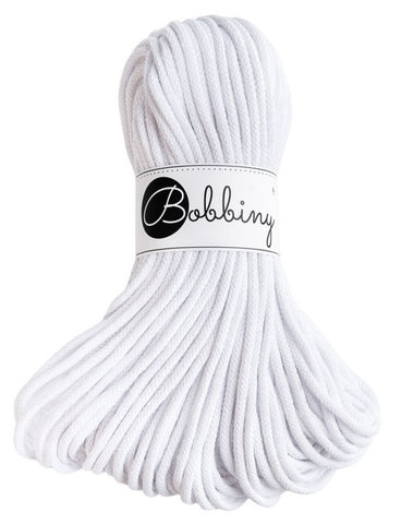 White Bobbiny Cotton Rope 100m