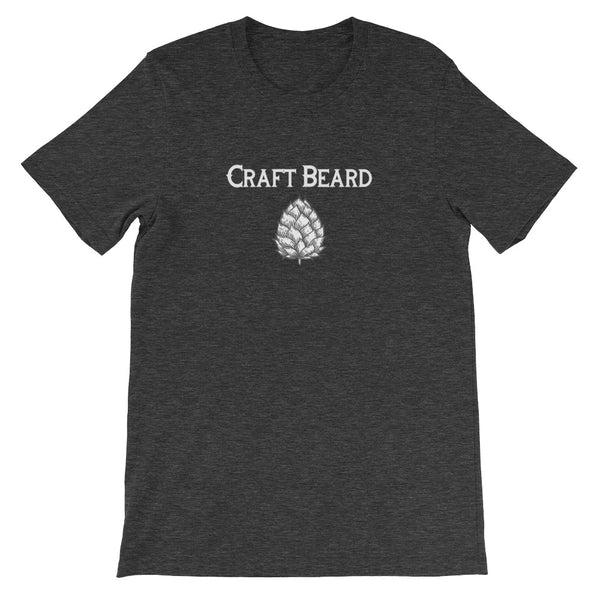 Craft Beard w/ Hops ~ Short-Sleeve Unisex T-Shirt w/ Logo Backtag