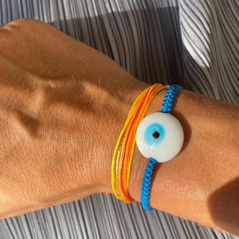 Blueberry Ceramic Evil Eye Bracelet - OIYA