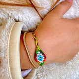 Kids Small Evil Eye Rainbow Bracelet - OIYA