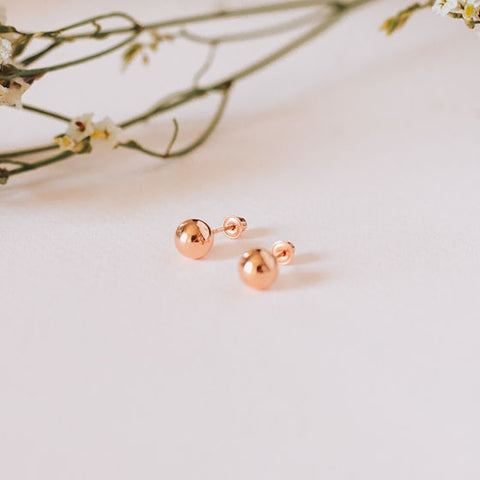 Medium Rose Gold Studs - OIYA