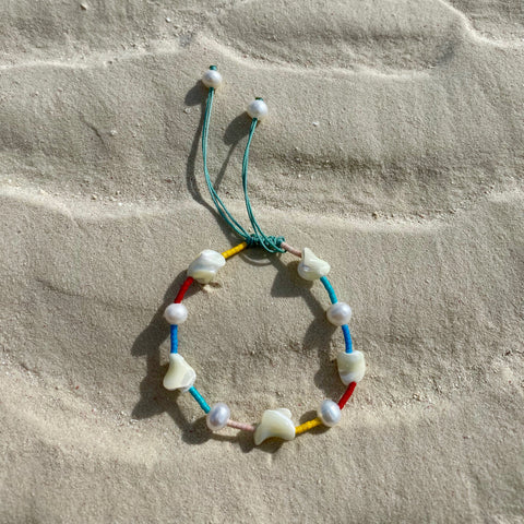 Mixed Pearl Rainbow Bracelet - OIYA