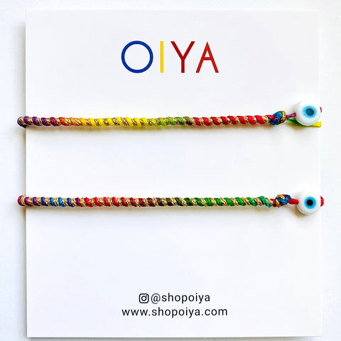 Set 1 - Twisted Duo Color Bracelet - OIYA