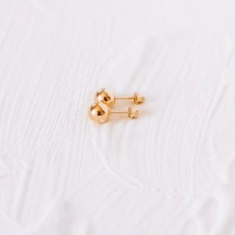 Medium Yellow Gold Studs - OIYA