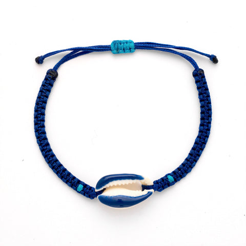 Navy Candy Shell Bracelet - OIYA