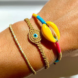Yellow Candy Shell Bracelet - OIYA