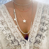 White Pearl & Bead Necklace - OIYA