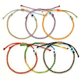 Kids Twisted Duo Color Evil Eye Bracelet - OIYA