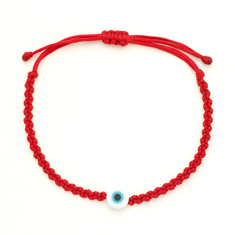 Evil Eye Braided Bead Bracelet - OIYA
