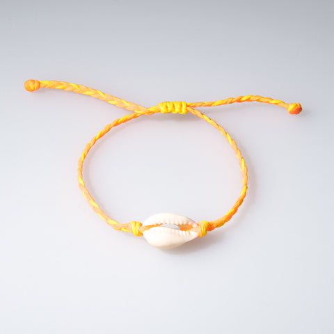 Kids Braided Cowrie Shell Bracelet - OIYA