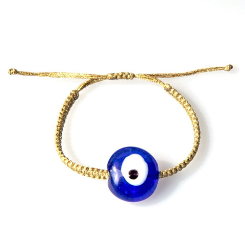 Blue Ceramic Evil Eye Bracelet - OIYA