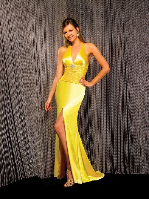 Night Moves 5822 Gold size 4 In Stock Prom Dress