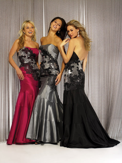 Night Moves 5829 Silver/Black size 6 In Stock Prom Dress