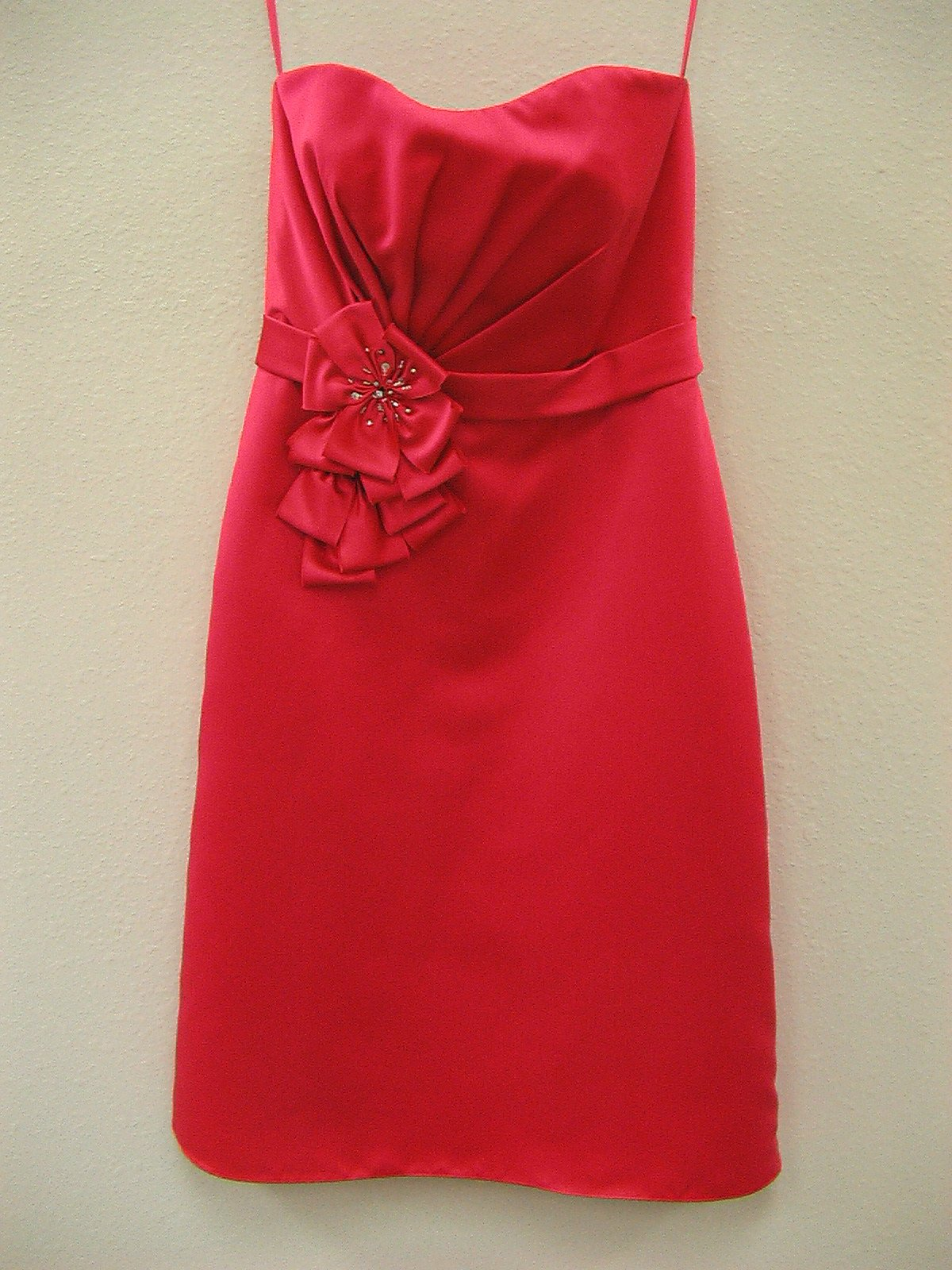 Allure 1258 Hot Pink Size 8 In Stock Bridesmaid Dress - Tom's Bridal