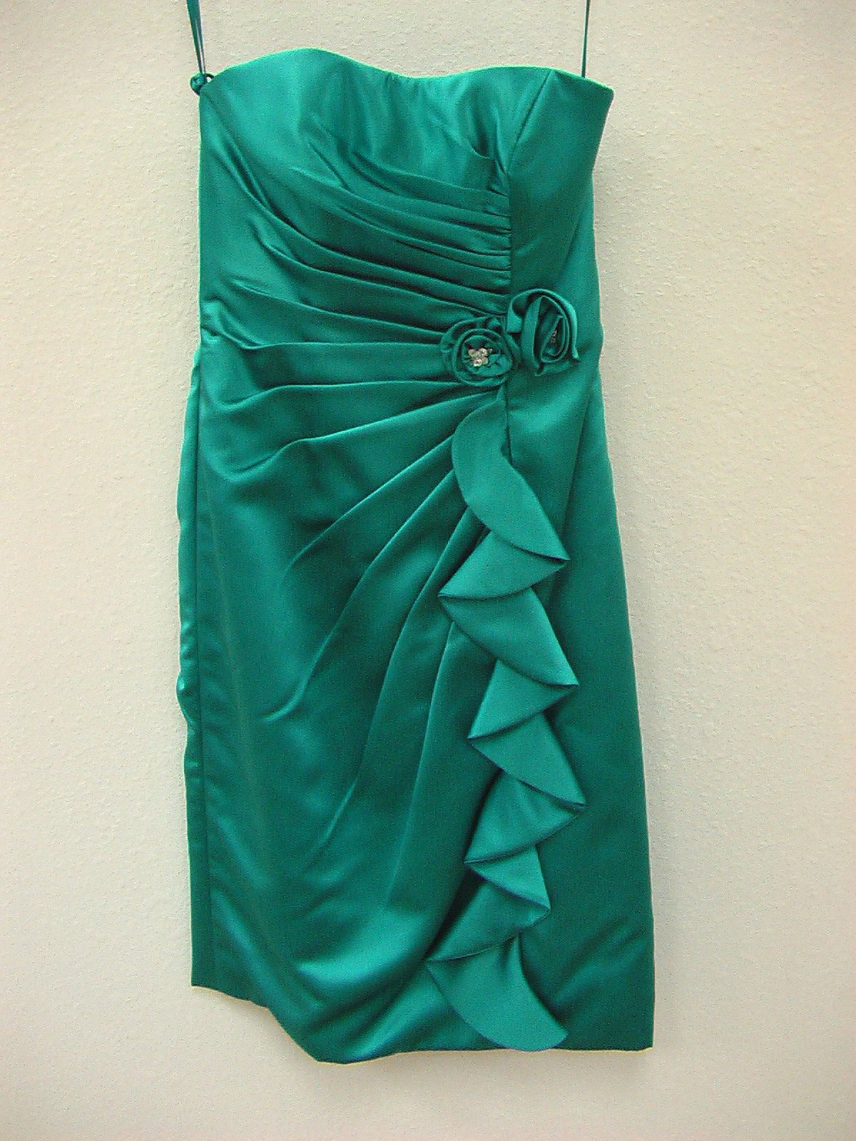 Allure 1268 Teal Size 8 In Stock Bridesmaid Dress - Tom's Bridal