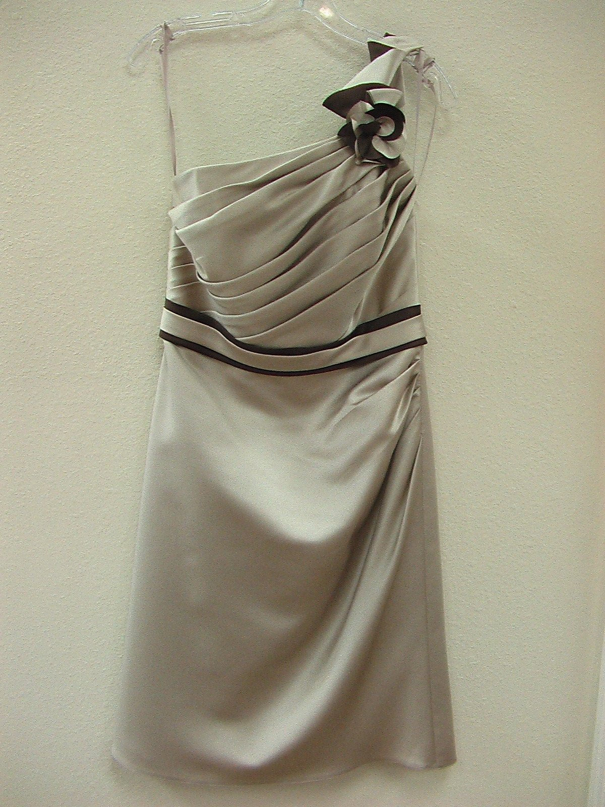 Allure 1277 Cappuccino/Chocolate Size 10 In Stock Bridesmaid Dress - Tom's Bridal