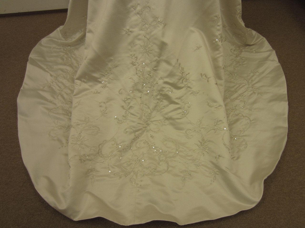 Allure 2176 Café/Silver size 10 In Stock Wedding Dress - Tom's Bridal