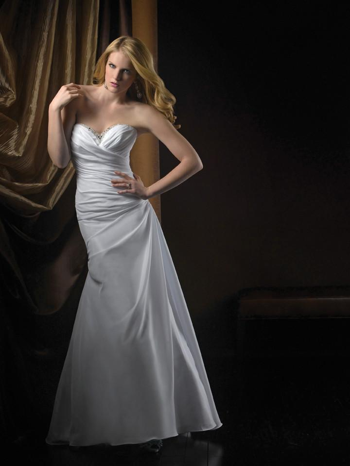 Allure 2210 Diamond White/Silver size 12 In Stock Wedding Dress - Tom's Bridal