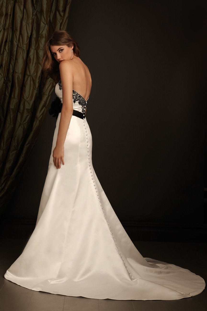 Allure 2405 Ivory/Black/Silver size 10 In Stock Wedding Dress - Tom's Bridal