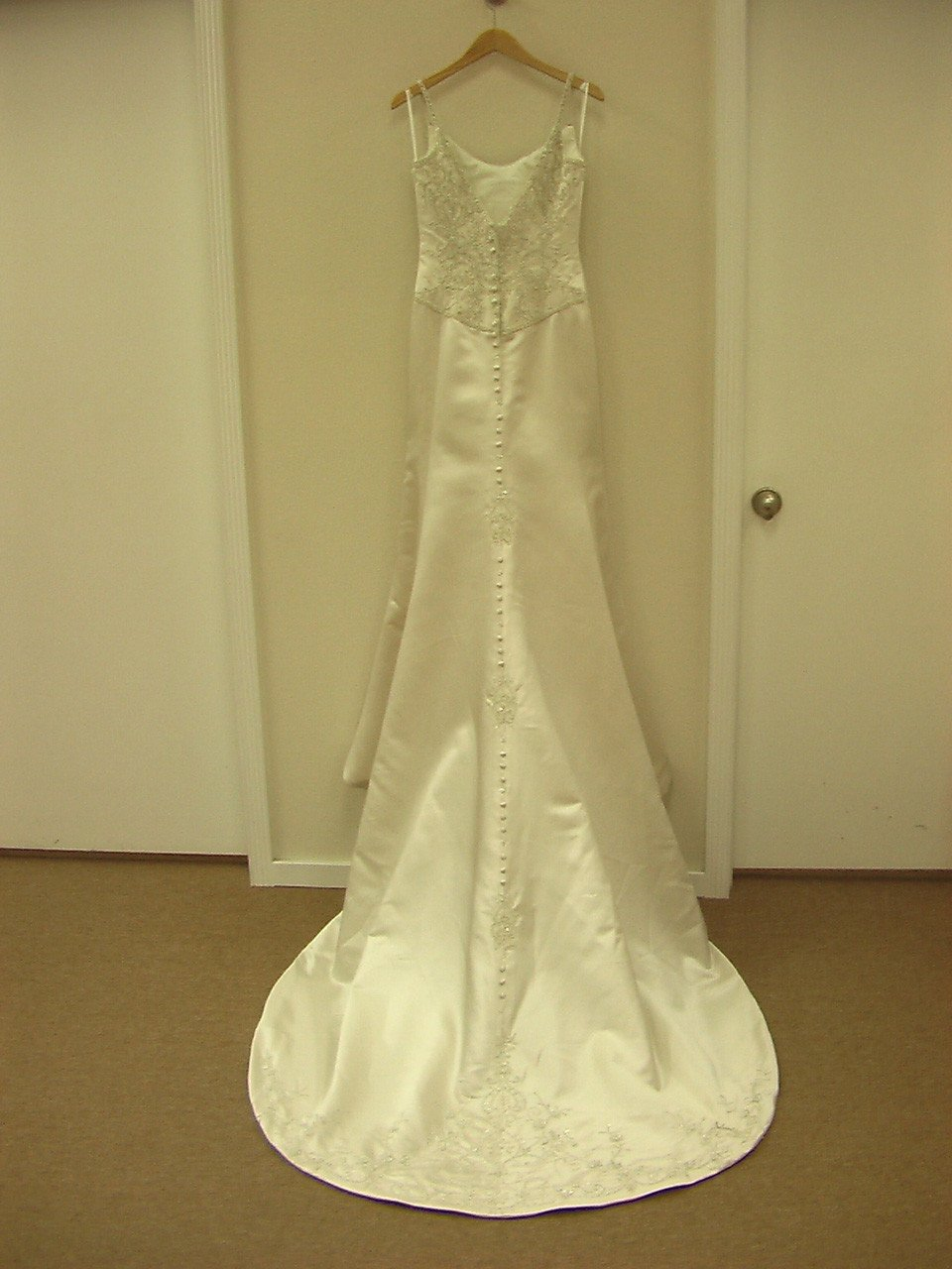 Allure 8395 Cafe/Silver size 8 In Stock Wedding Dress - Tom's Bridal